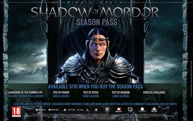 season pass middle earth shadow of mordor in uscita ad ottobre caratteristiche e nuove sfide