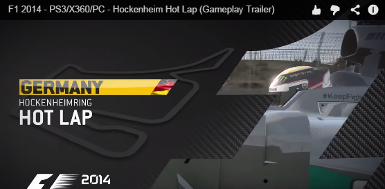 hockenheim f1 2014 video game player hamilton ps3 ps4 xone x360 oc game
