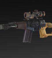 Brezatelya + extended magazine + RUS 8x scope