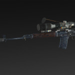 Dragoon SVD + silencer + extended magazine + RUS 4x, 14x, 24x, 34x scope