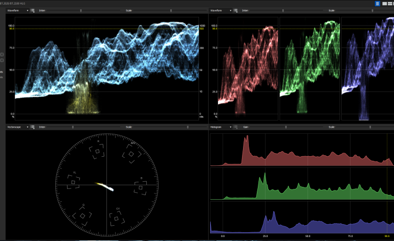 EDIUS 9.20 - new HDR Scopes with nits, RGB Parade and RGB Histogram