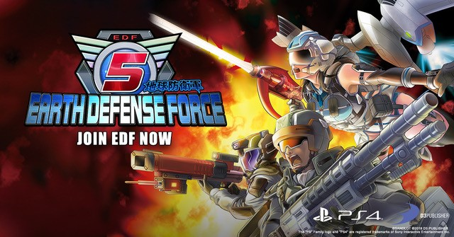 Earth Defense Force 5_Launch_Key_Art