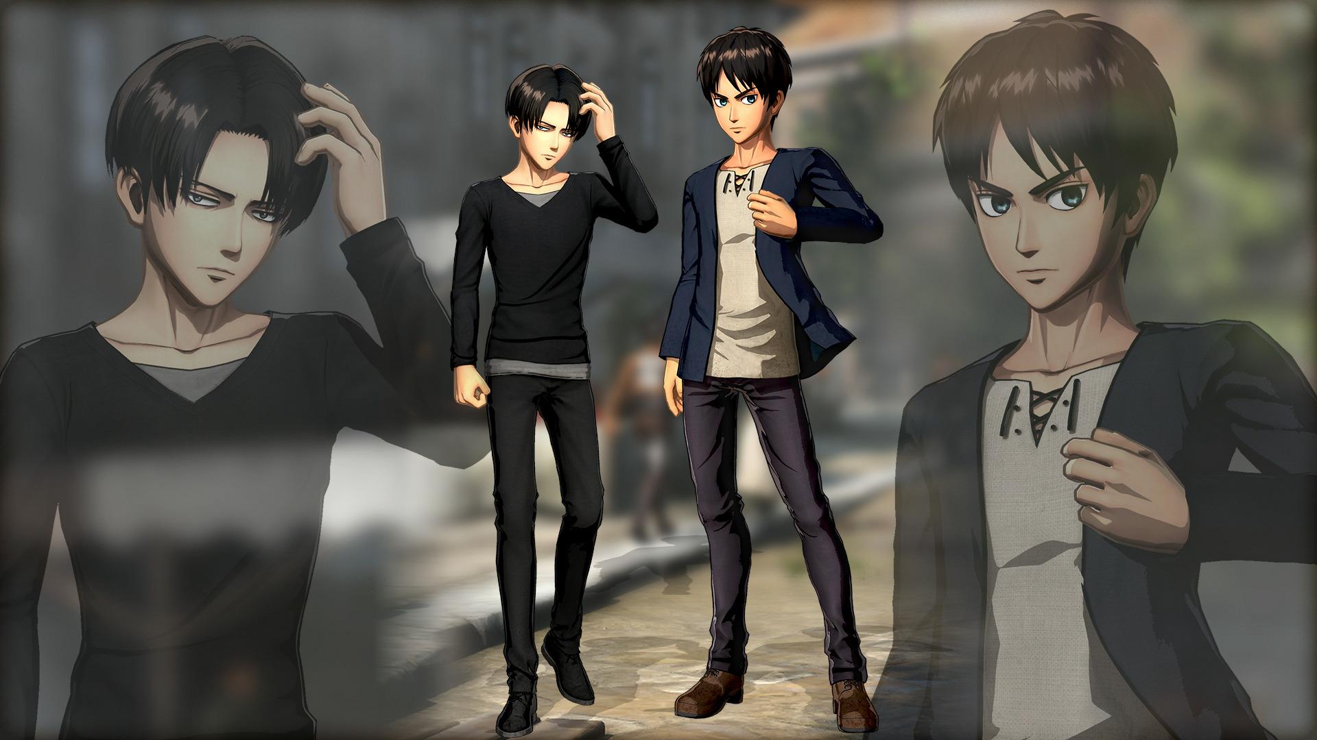 Eren & Levi - Plain Clothes