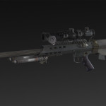 Turret M96 + Bipod + Small Mag + NATO 6x, 12x, 24x