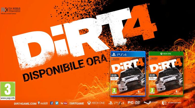 dirt4 trailer lancio