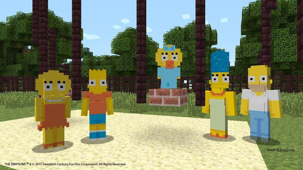 i simpson in minecraft per xbox one e xbox 360