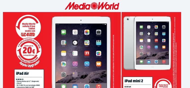Ipad Air Ipad Mini 2 Samsung Galaxy Tab 4 E Tab S In Offerta A