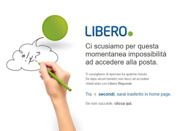libero crash e down