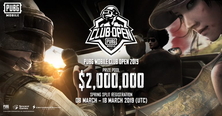 PUBG Mobile Club Open 2019, $ 2.000.000 USD In Palio Per