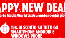 MediaWorld Sconti New Deal Samsung Galaxy Smartphone 29 dicembre