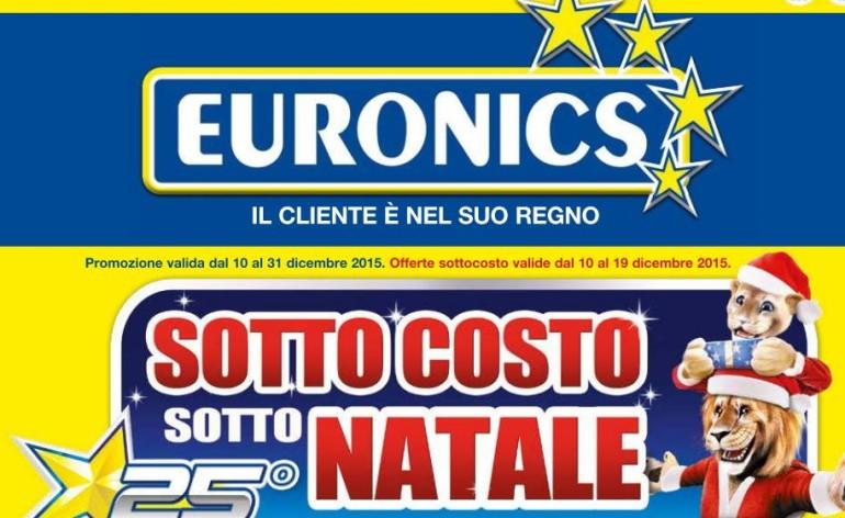 volantino euronics sottocosto dicembre 2015
