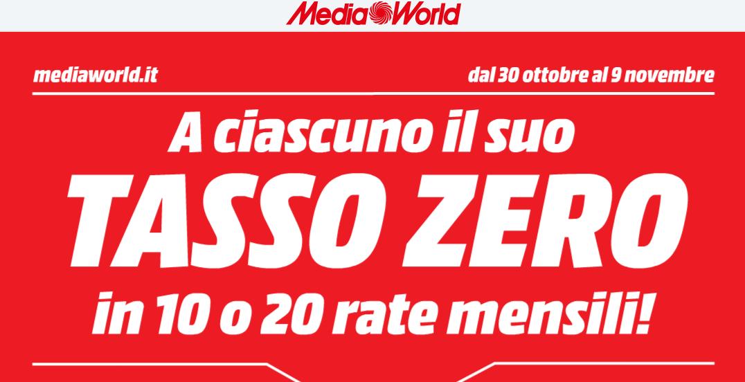 volantino mediaworld offerte hitech a tasso zero fino al 9 novembre 2014