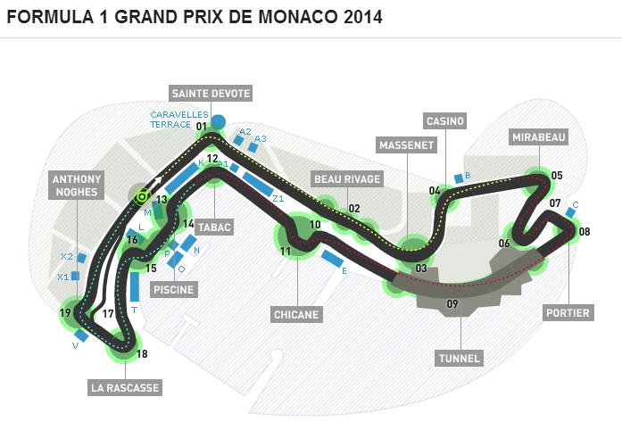 F1 GP Monaco prove e qualifiche pole position sintesi video youtube highlights 22-25 maggio 2014
