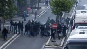 Scontri prima della finale di coppa italia fiorentina napoli spari - video e immagini