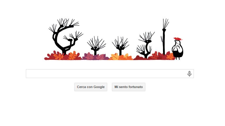 nuovo doodle google autunno animato 23 settembre