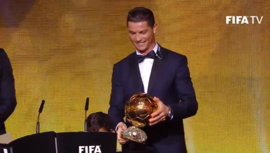 Cristiano Ronaldo Pallone D Oro 2014 urlo di liberazione