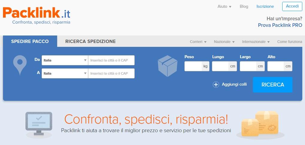 Tariffe Bartolini e Poste Italiane su Packlink.it