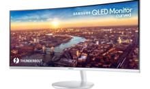 Samsung presenta il primo monitor curvo QLED Thunderbolt 3 al CES 2018