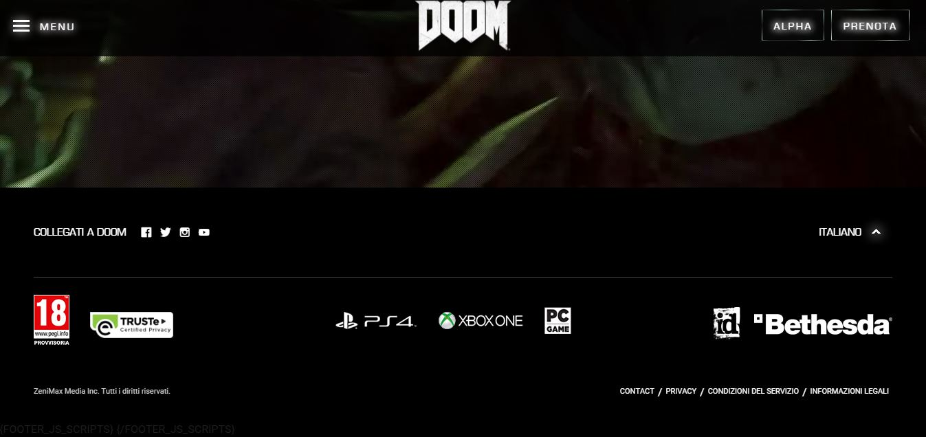 doom official footer beta