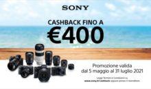 Sony rilancia Cashback sui prodotti di Digital Imaging