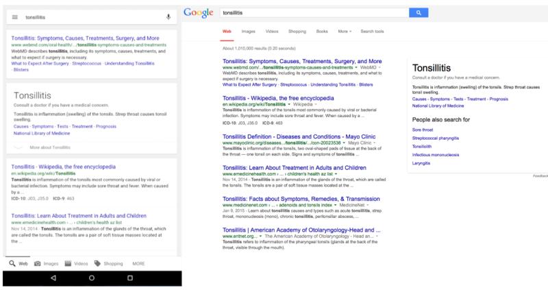 screen shot ricerche mediche google sel