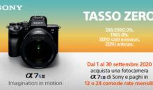 Nuova A7S III: SONY lancia la promo Tasso Zero di settembre