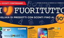 Volantino Unieuro offerte smartphone, smart tv, pc dal 22 gennaio all'11 febbraio 2015
