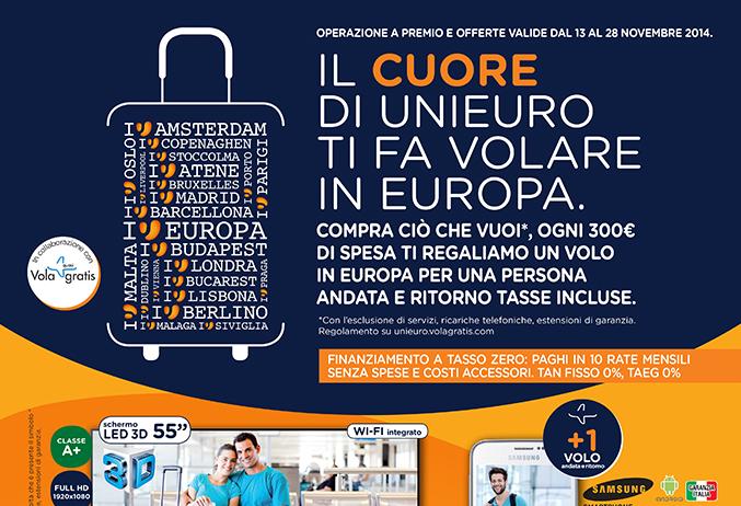 volantino unieuro offerte tech e voli gratis in europa