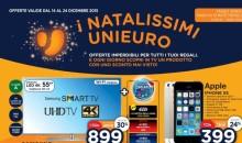 Volantino Unieuro sconti Natale dal 14 al 24 dicembre iPhone 5s, PS4 e XOne